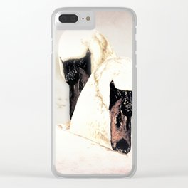 Dreamy White Swans (bird) Art A304 Clear iPhone Case