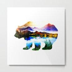 Bear mix Nature Metal Print