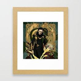 Loki God of Mischief Framed Art Print