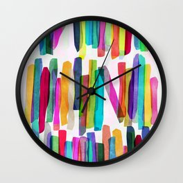 Colorful Stripes 5 Wall Clock