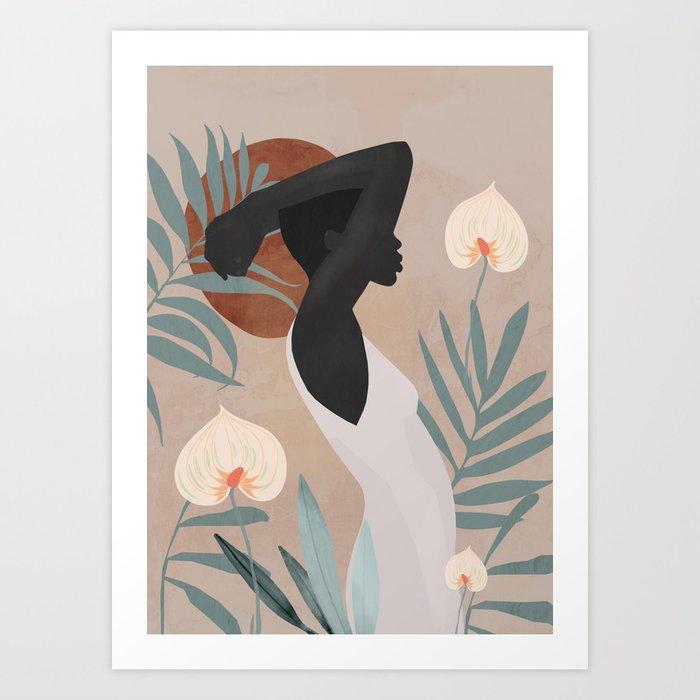 Tropical Girl 4 Art Print