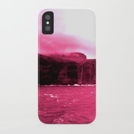 red water off the faroes. iPhone Case