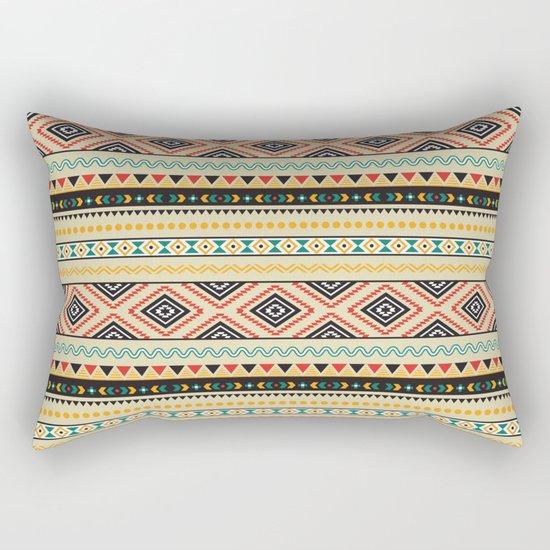 Tribal #3 * Ethno Ethnic Aztec Navajo Pattern Boho Chic Rectangular Pillow
