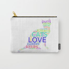 Cat Love -- For the Love of Cats Carry-All Pouch