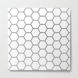 Honeycomb Black #378 Metal Print