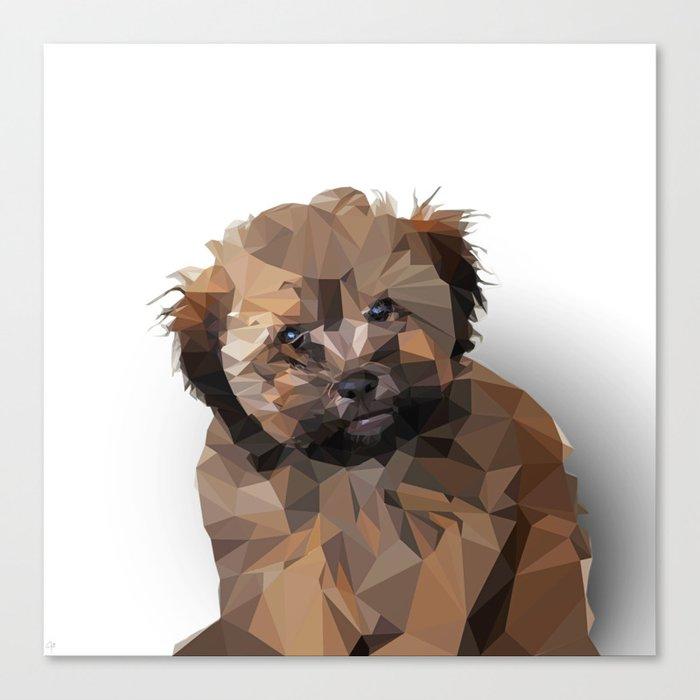 Cocoa, the puppy Canvas Print