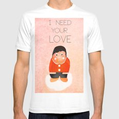 i  need your love Mens Fitted Tee SMALL White