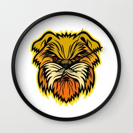 Affenpinscher Monkey Dog Mascot Wall Clock