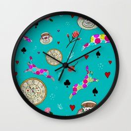 Alice Was Here Wall Clock