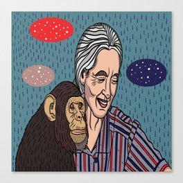 Jane Goodall Canvas Print