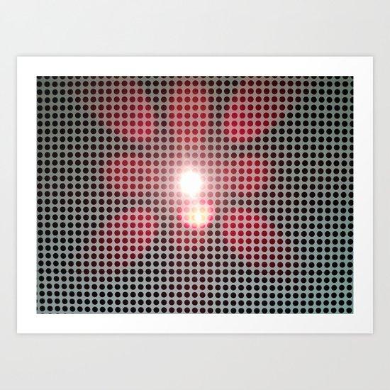 LIGHT FLOWER Art Print