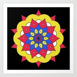 Mandala flower design Art Print