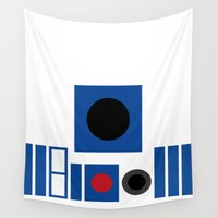 r2d2 Wall Tapestries featuring R2D2 by VineDesign