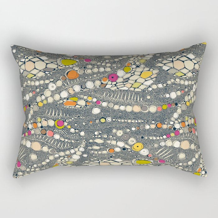 iguana skin indigo pop Rectangular Pillow