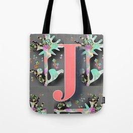 MONOGRAM J FLORAL Tote Bag