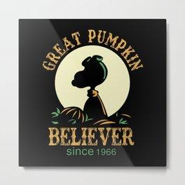 Great Pumpkin Believer Metal Print