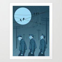 Birds and Men Art Print