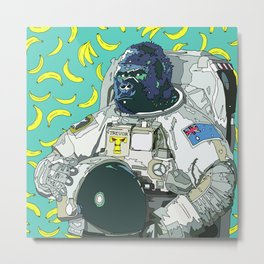 Trevor the Space Gorilla Metal Print