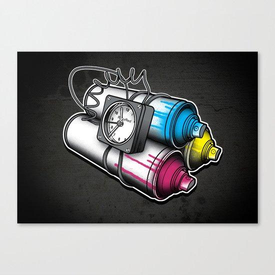 Graffiti Bombing Canvas Print