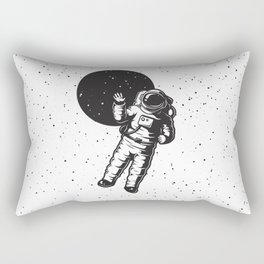 astrounout to the space white Rectangular Pillow