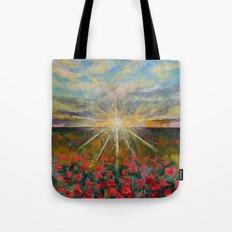 Starlight Poppies Tote Bag