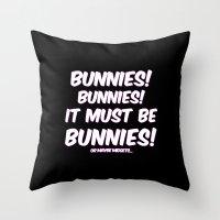 bunnies Throw Pillows featuring Bunnies by Nana Leonti