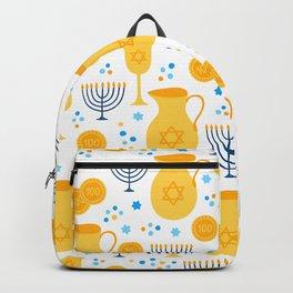 Hanukkah Traditions Pattern Backpack