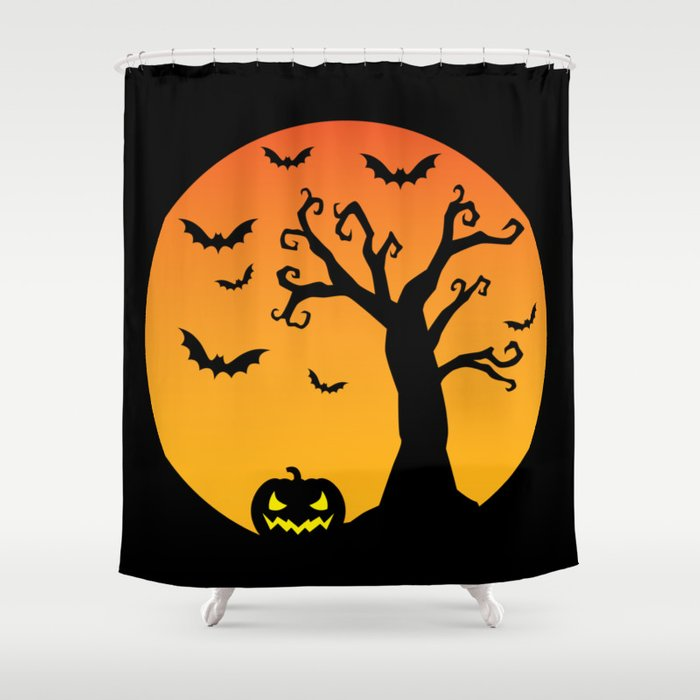 Creepy Night Shower Curtain By Leonardojmarques