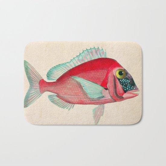 Red Fish Bath Mat