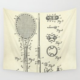 Tennis Racket-1948 Wall Tapestry