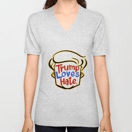 trump love hate shirt Unisex V-Neck