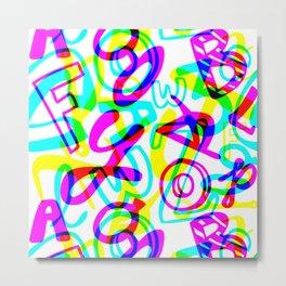 Letters + Numbers Metal Print