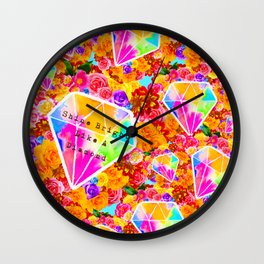 Shine Bright Like A Diamond Collage Wall Clock
