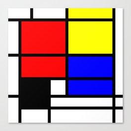 Mondrianista Canvas Print