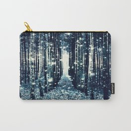 Magical Forest Teal Gray Elegance Carry-All Pouch