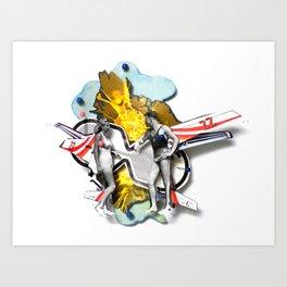 Speed Date | Collage Art Print