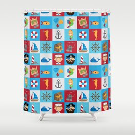 Ahoy There! Shower Curtain
