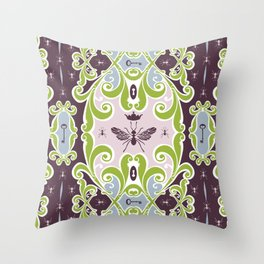 The Ant Queen Throw Pillow