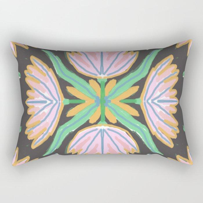 Geometric Delicious Floral Garden 5 Rectangular Pillow