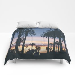 SUNRISE - SUNSET - PALM - TREES - NATURE - PHOTOGRAPHY Comforters