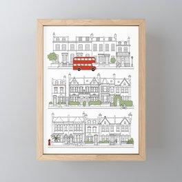 London houses Framed Mini Art Print