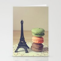 macaroons Stationery Cards featuring Macaroons by Adeline Lee