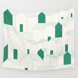 Hill Houses Wall Tapestry