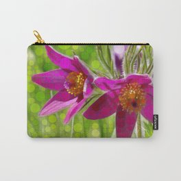 bright pink pasque flower - abstract edit Carry-All Pouch