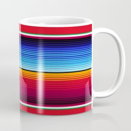 Traditional Mexican Serape in Red Multi Coffee Mug