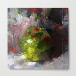 Fractured Fruit Abstract Metal Print