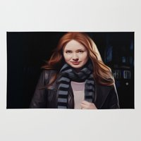 amy pond Area & Throw Rugs featuring Doctor Who's Amy Pond by Sara LD