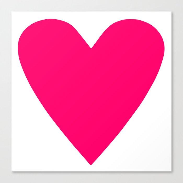 Neon Pink Heart Leinwanddruck