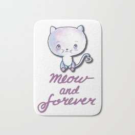 Meow and Forever Bath Mat