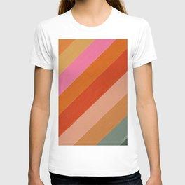 Diagonal Color Blocking – Retro Palette T-shirt